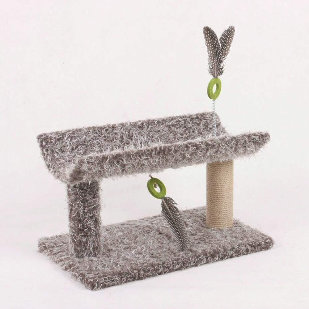 Hexiansheng Cat Climb Trees Small sisal Claw pet Teasing cat Toy Plush Fabric 50  30  30cm Wood