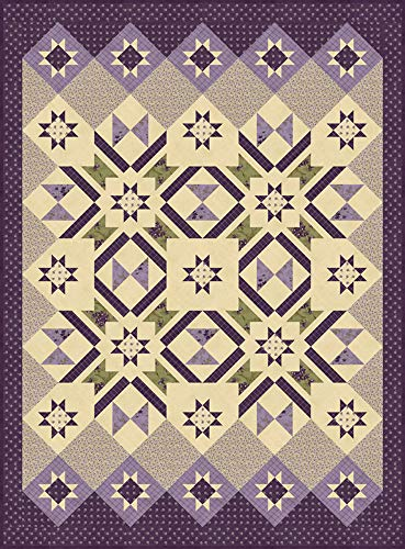 Jan Patek Sweet Violet Hidden Grove Quilt Kit Moda Fabrics - Violet Fabric Quilt