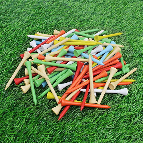 Kofull Professional 2-3/4 Deluxe Wood Colorful Golf Tee -100 Count