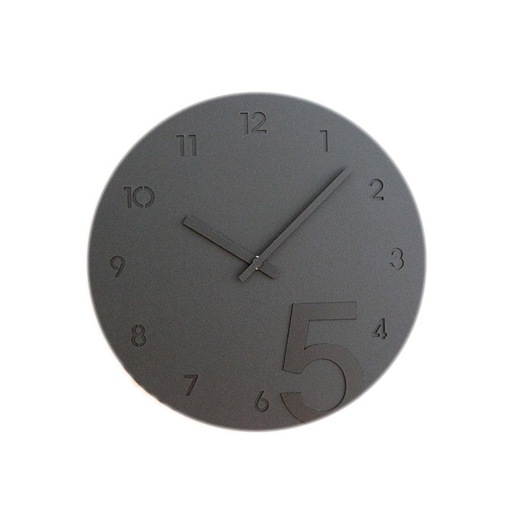 LINGZHIGAN 12インチウォールクロックファッショントレンドクリエイティブ壁掛け時計モダンなベッドルームホームクォーツ時計ミュートピュアカラー (色 : Gray) B07FDVJKGS Gray Gray