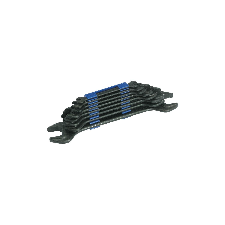 Black Stubai 20010010 Double-Open-End Spanner Set DIN 895 Burnished