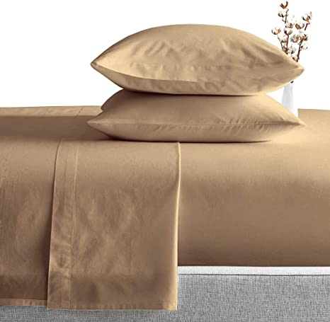 Fitted Sheet King Size Taupe Solid 1000 TC 100/% Egyptian Cotton Duvet Set