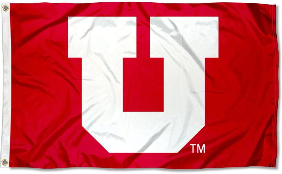 Utah Utes Blackout University Large College Flag