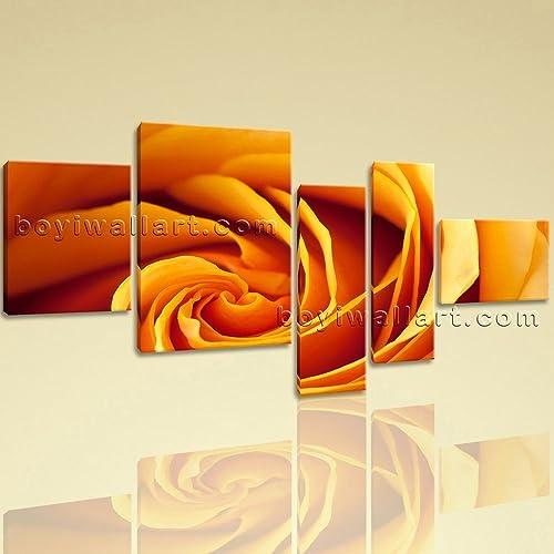 Amazon.com: Large Floral Wall Art Rose Flower Hd Print Modern Canvas ...