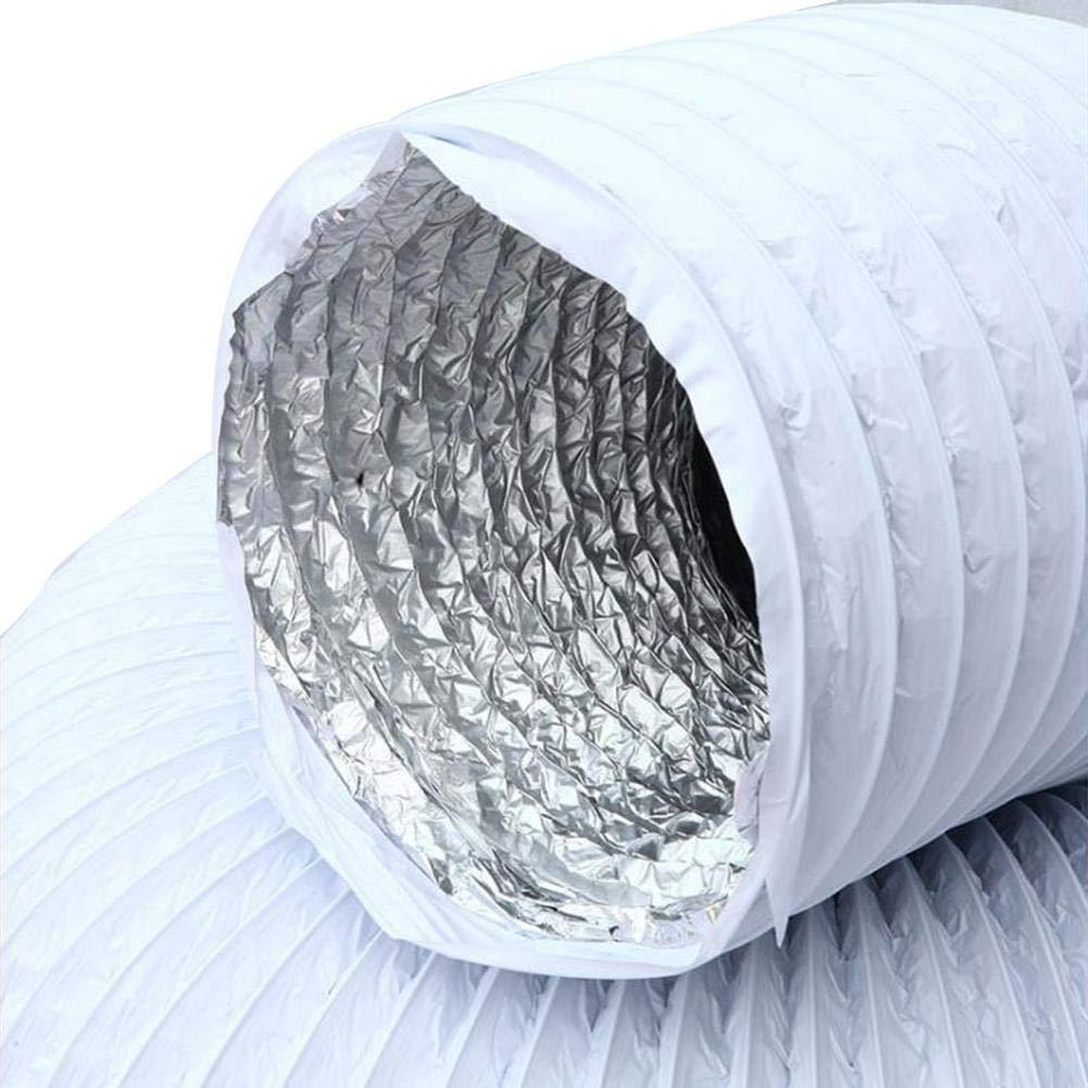 lembrd Abluftschlauch Air System PVC-Verbundrohr Doppeltes Aluminiumfolie Auspuffrohr Teleskopschlauch Dunstabzugsrohr