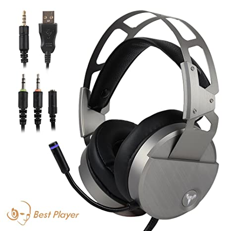 Gaming Headset for PS4 Xbox One, USB Stereo Over Ear Headphones with Crystal Clear Sound