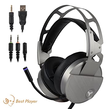Amazon.com: Gaming Headset, Plateado: Computers & Accessories