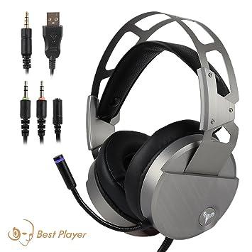 Amazon.com: Gaming Headset, Plateado: Computers & Accessories