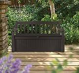Keter Eden 70 Gallon Storage Bench Deck Box for
