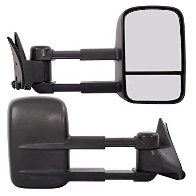 MOTOOS Towing Mirrors Fit For 1988-1998 Chevrolet GMC C/K 1500 2500 3500 Pickup Chevy Tow Mirrors Pair Manual Telescoping Side Mirrors: Automotive