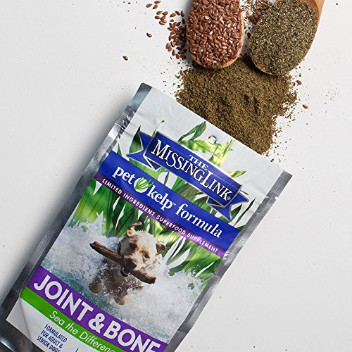 The Missing Link Non-GMO Pet Kelp, Joint & Bone Formula — Limited ingredient Superfood Supplement for Dogs rich in Omegas and with Glucosamine to support healthy nutrition and mobility  — 8 oz. by The Missing Link (Image #4)