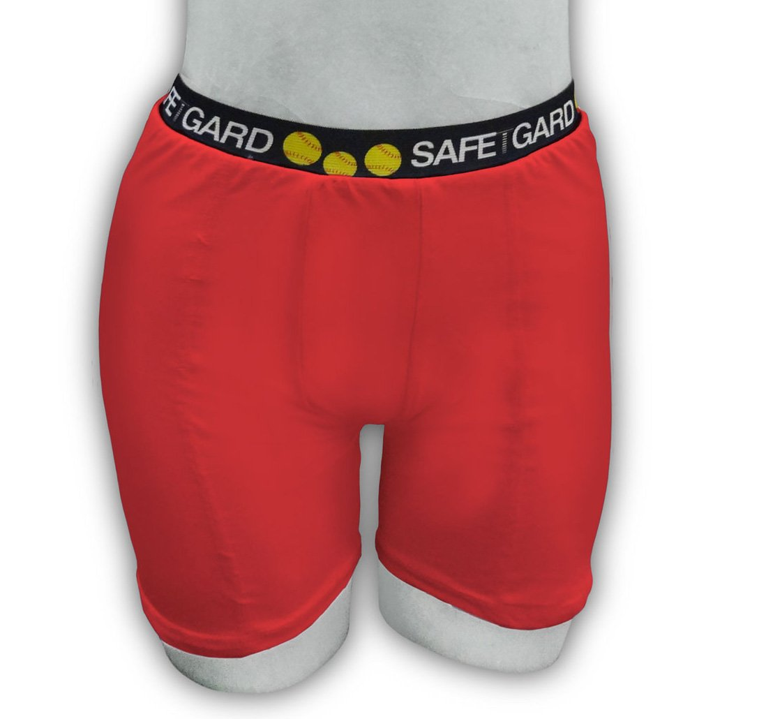 SafeTGard Girls Regular-Rise Youth Large Sliding Short (Red) by Safe-T-Gard