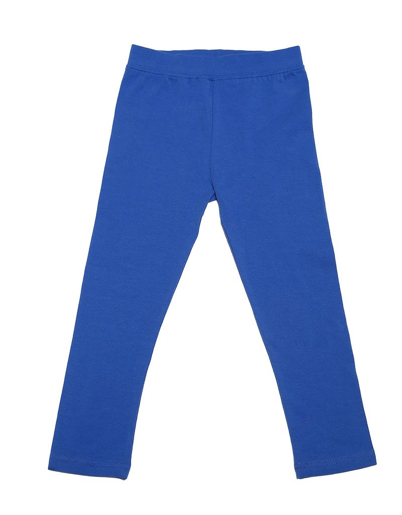 Leveret Solid Girls Legging Royal Blue (10 Years)