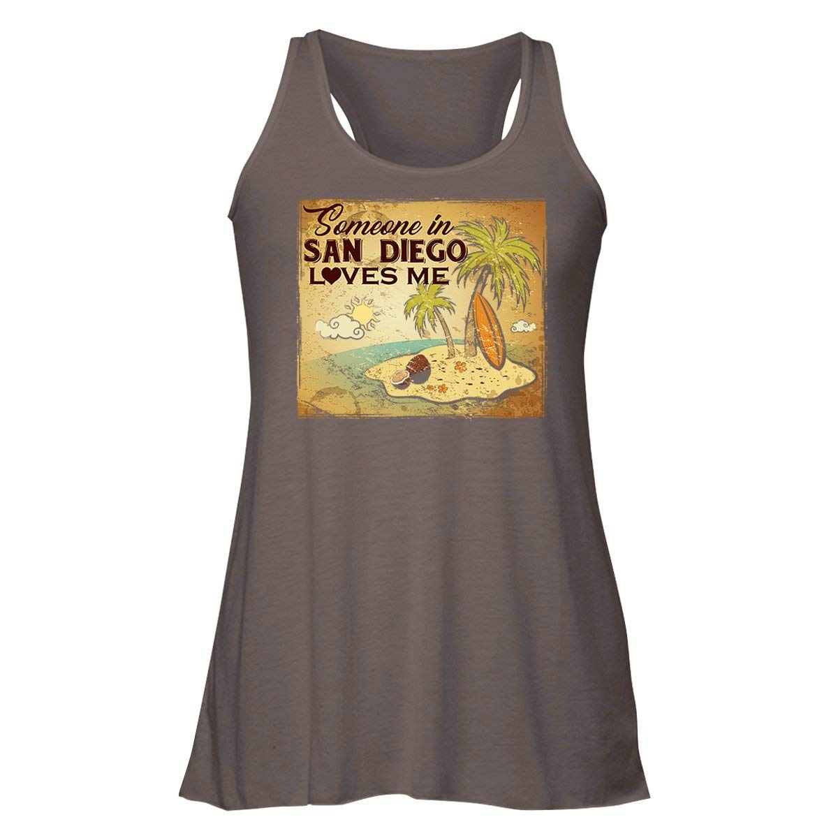 Amazon Someone In San Diego Loves Me Racerback Tank Tops T