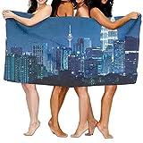 Wxf Fabric Kuala Lumpur Skyline At Night KLCC Twin Towers Malaysian Landmark Monochromic Photo Soft Lightweight Beach Towel Pool Towel 30x50