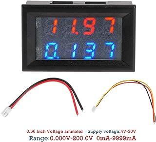 Runrain 0,7cm Digital DC 200V 10A voltmetro 4cifre 5Filo di Tensione misuratore di Corrente