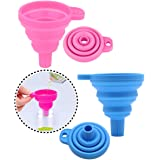 2 Pcs Diamond Painting Tools Funnel - Silicone Collapsible Funnel, Convenient Foldable Beads Container Mosaic Tool for 5D DIY