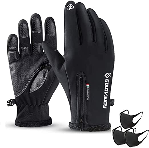 Touchscreen Outdoor Cycling Bicycle Bike Ski Silica Windproof Gloves Hiking USA