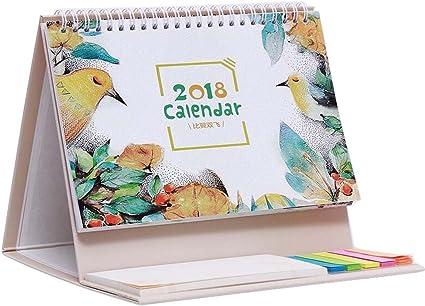 Volar de ala a ala juntos Calendario de escritorio Calendario de mesa Octubre de 2017 a diciembre de 2018: Amazon.es: Oficina y papelería