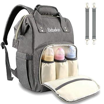 Amazon.com: Bebeke - Bolsa para pañales, resistente al agua ...
