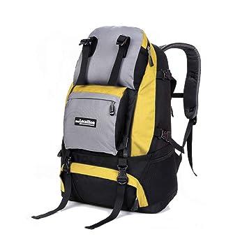 Smnyi Aadolescentes 40 litros Bolsa de Montañismo Amplias Nylon Backpack Color sólido Resistente al Desgaste Rucksack Outdoor Grandes Bandoleras Multiusos ...