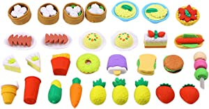 Toyvian Food Eraser for Kids Birthday Party Supplies Favor School Classroom Rewards and Novelty Toys