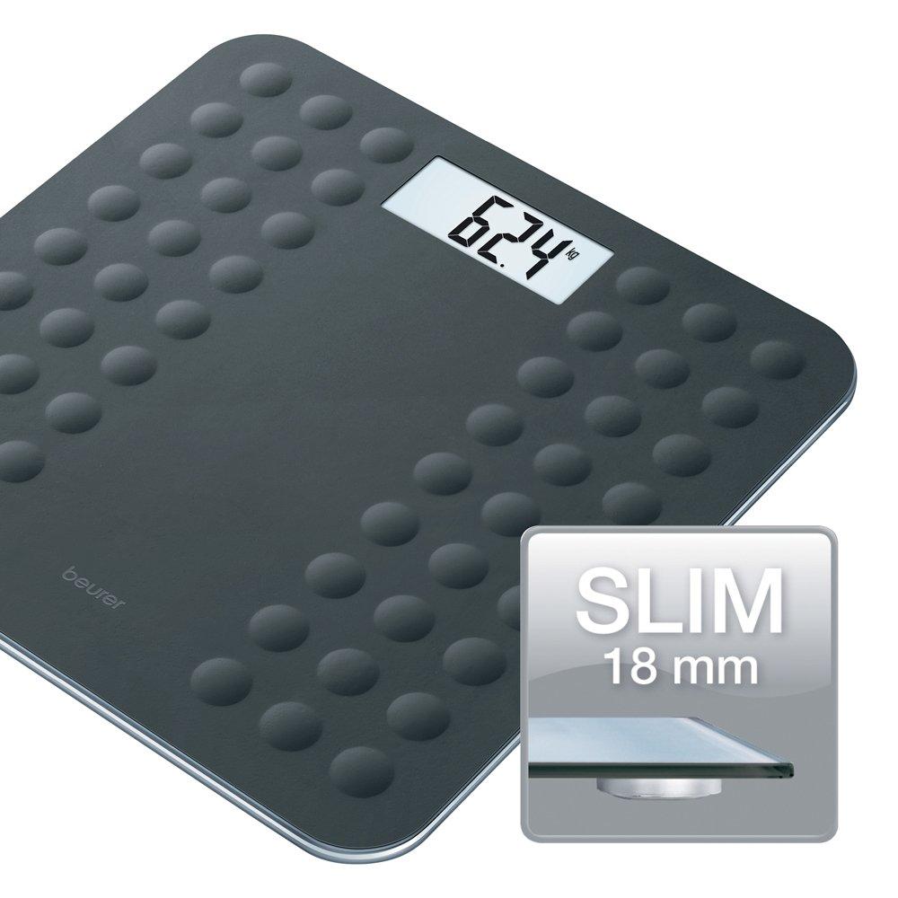 Beurer GS 300- NEGRO - Báscula de baño de vidrio antideslizante, color negro: Amazon.es: Salud y cuidado personal