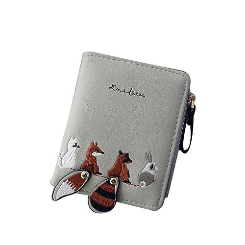 aspetto dettagliato ff009 a230e Elecenty portafoglio donne pelle portamonete portafoglio di moda  porta-tessere femmina leggero Mini semplice