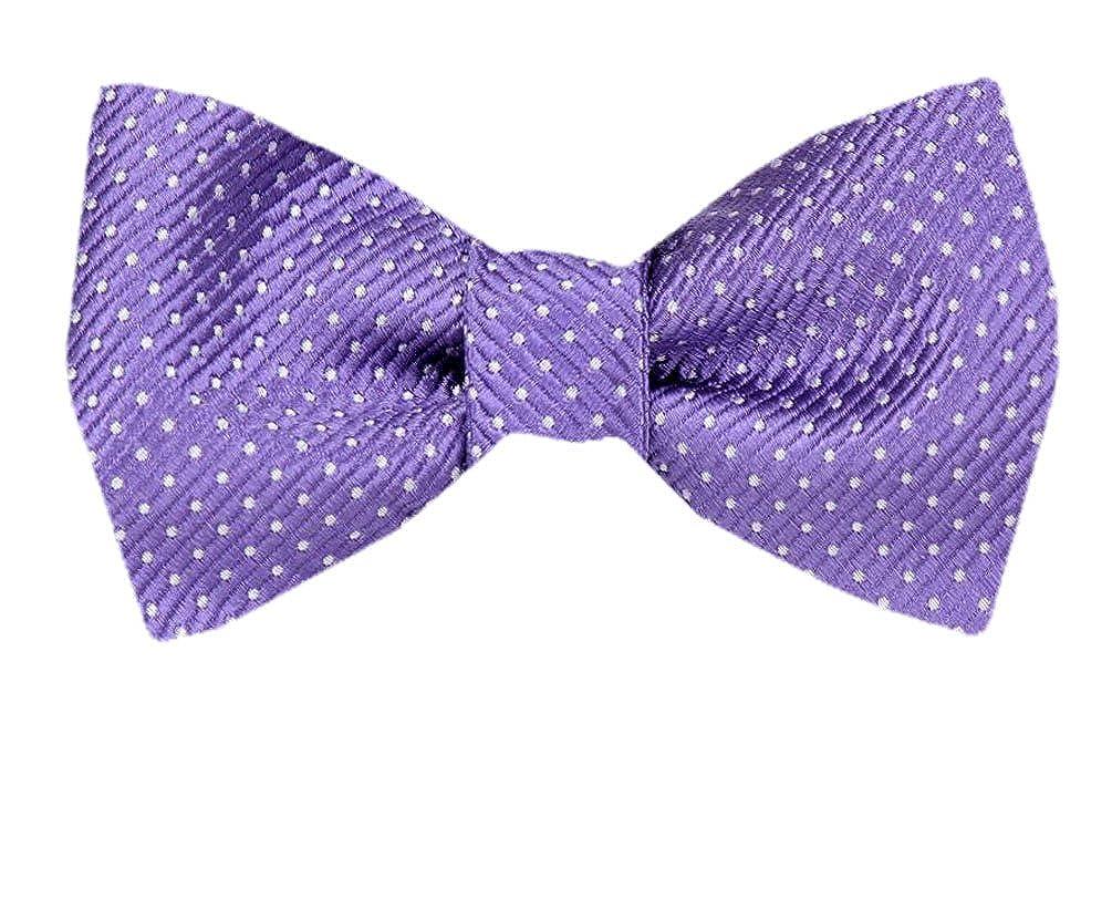Silk Dot Purple Self Tie Bow Tie