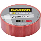 Scotch Expressions Washi Tape, 0.59 x 393 Inches, Pink with Red Stripe (MMMC314P22)
