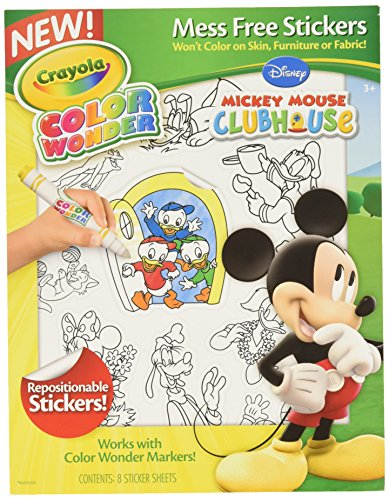Crayola Color Wonder Stickers, Mickey Mouse Club House (75-5852)
