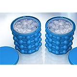 Ice Genie Cube Maker,Cubitera de Hielo,Use Doble Cámara el Revolucionario Ahorro de Espacio y para Hacer 120 Cubos de Hielo a Whisky Cócteles y Cerveza Ice Genie BPA Free (Azul)