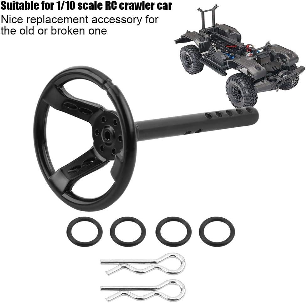Dilwe Volant de Voiture RC Volant Universel Accessoire de Simulation pour 1//10 RC Crawler Voiture