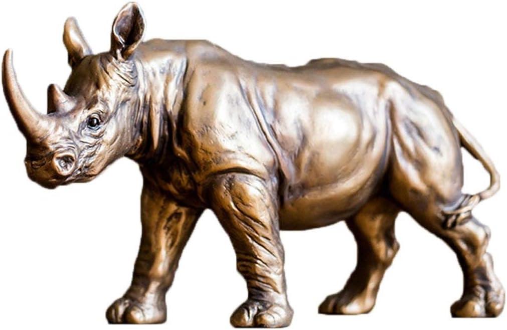 KXBYMX Statue de Sculpture Rhinoc/éros m/ère et Fils Xiangrui Ornements Bureau Porche /étude c/ôt/é Armoire d/écoration R/ésine placage Cadeau d/écoration Artisanat Sculpture en r/ésine