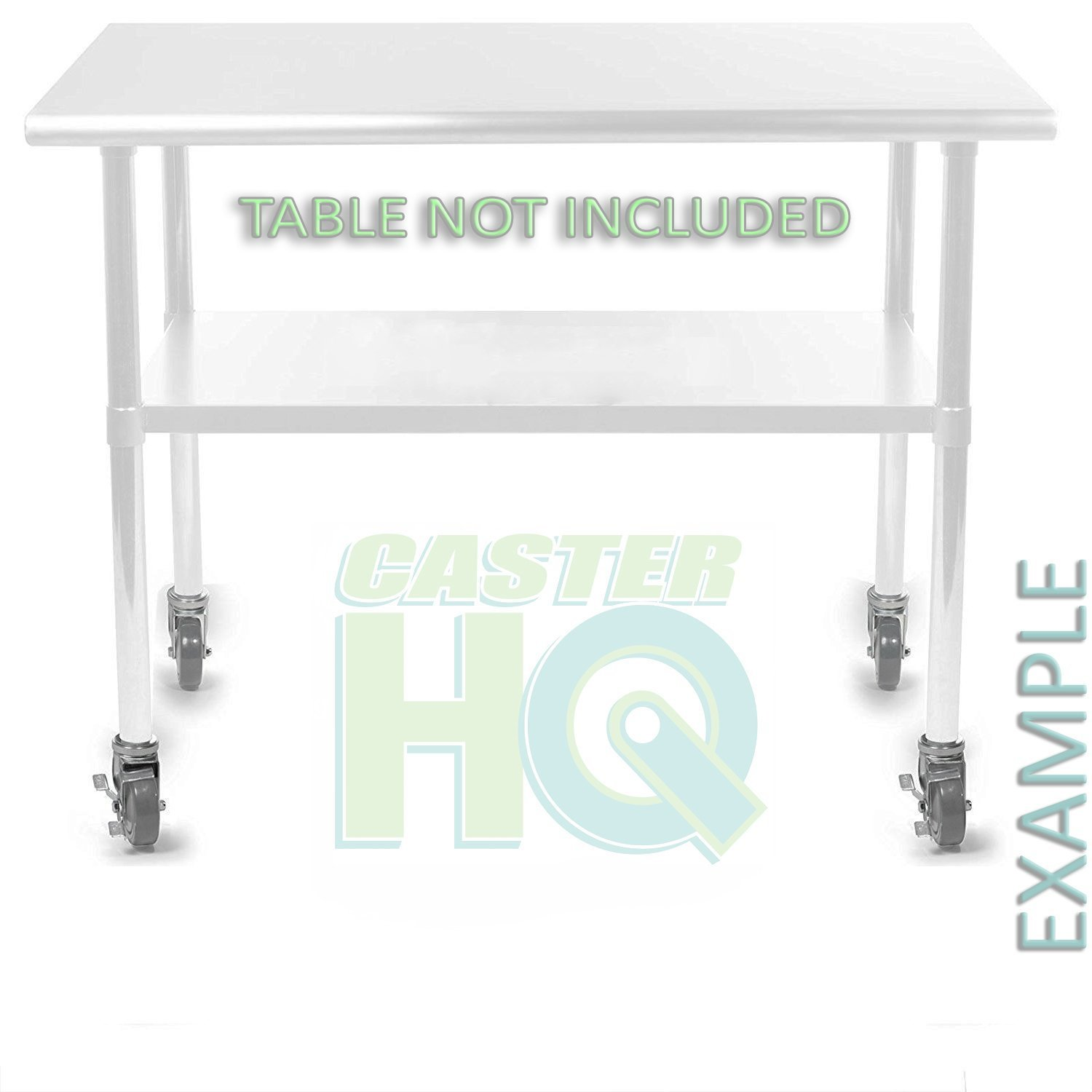 Caster for Work Tables, 3'' Polyurethane Wheel - 1-1/2'' Expanding Rubber Adapter - CasterHQ Brand by CasterHQ (Image #3)