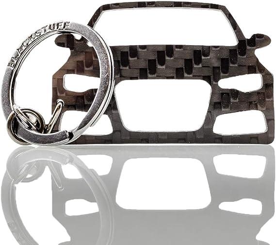 Blackstuff Carbon Karbonfaser Schlüsselanhänger Kompatibel Mit A6 S6 Rs6 C7 4g 2011 2018 Bs 113 Auto
