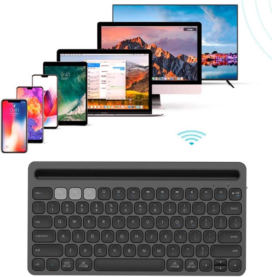 Diyeeni Keyboard,78 Keys Portable Multi-Function Keyboard Scissor-Foot X Bluetooth Keyboard Suitable for Phone Tablet Computer,Long Battery Life Black
