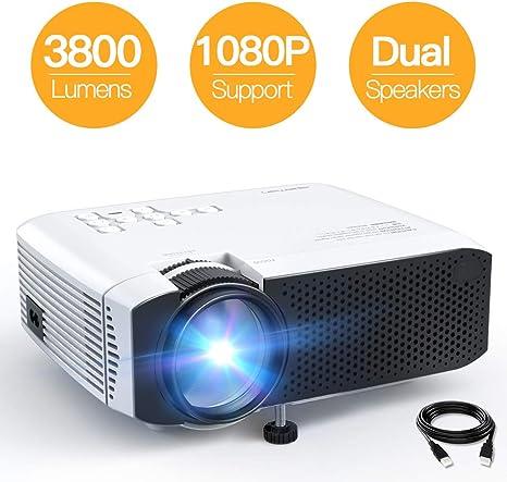 Amazon.com: Proyector, APEMAN Mini Proyector Portátil, 3800L ...