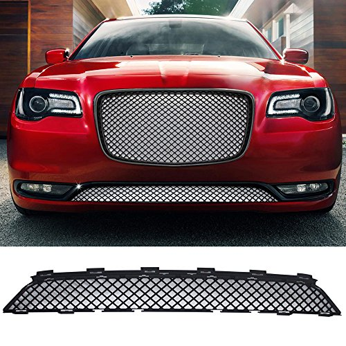 Bentley Grill Chrysler 300 - Grille Fits 2015-2017 Chrysler 300 300C | Bentley Style Front Lower Grill Grille - Black by IKON MOTORSPORTS |  2016
