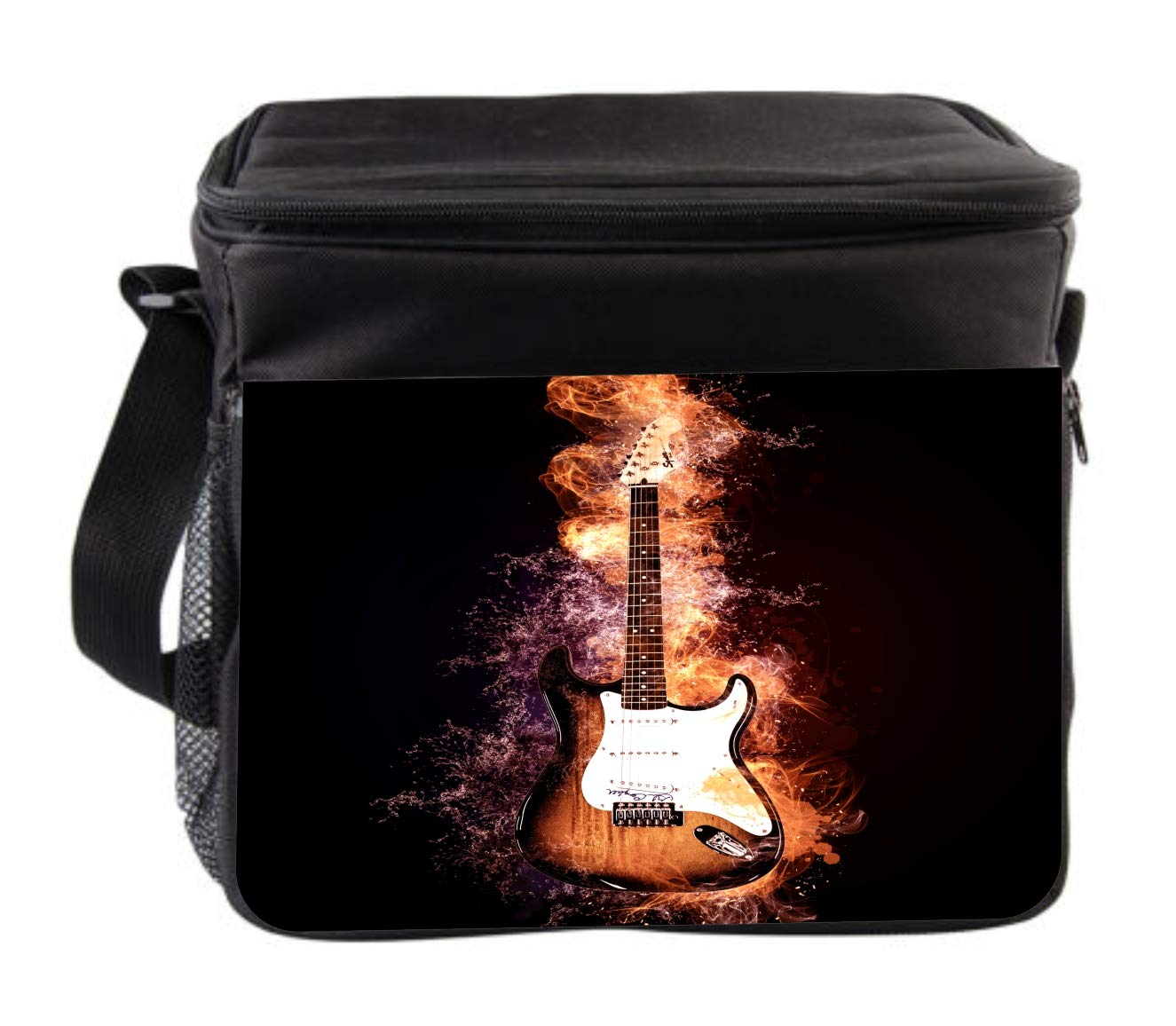 Rosie Parker Inc. Music Electric Guitar Cross Body Thermal Cooler Bag for Travel by Rosie Parker Inc.
