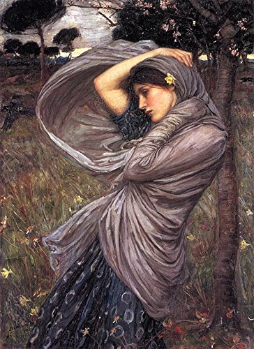"Boreas by John William Waterhouse - 18"" x 24"" Premium Canvas Print"