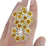 Venusvi Bridal Yellow Wedding Hair Pins for Women and Girls (Pack of 20)