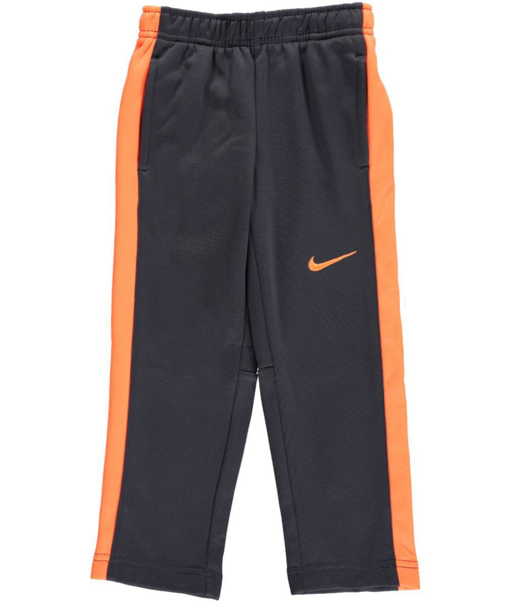 Nike Little Boys Therma-Fit Pants (Sizes 4 - 7) - anthracite/orange, 4