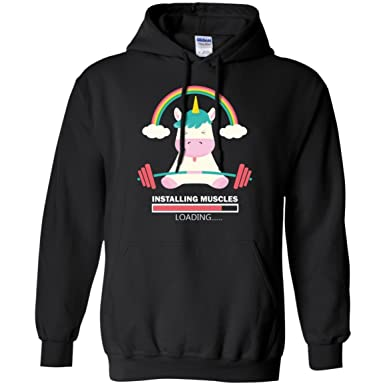 c28e6d48 Amazon.com: Favorystore Unicorn Installing Muscles Please Wait - Women's  Funny Workout Fitness Gym Tank Top Shirt - Gym Hoodie: Clothing