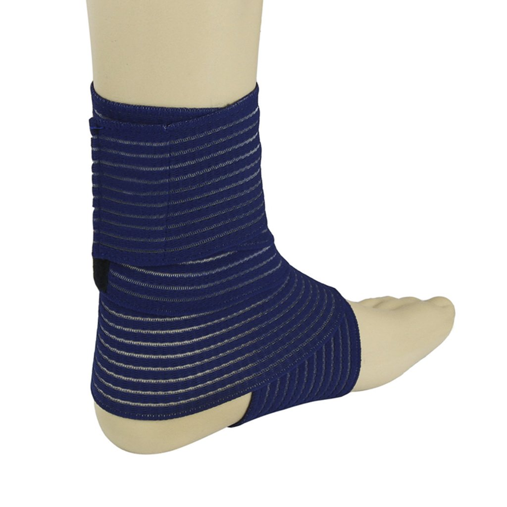 BXT A Pair (2 Pieces) Elastic Breathable Wrap Ankle Support Brace Compression Knee Elbow Wrist Ankle Hand Support Wrap Sports Bandage Strap Hook & Loop Fastener Straps(ONE PIECE) by BXT (Image #4)