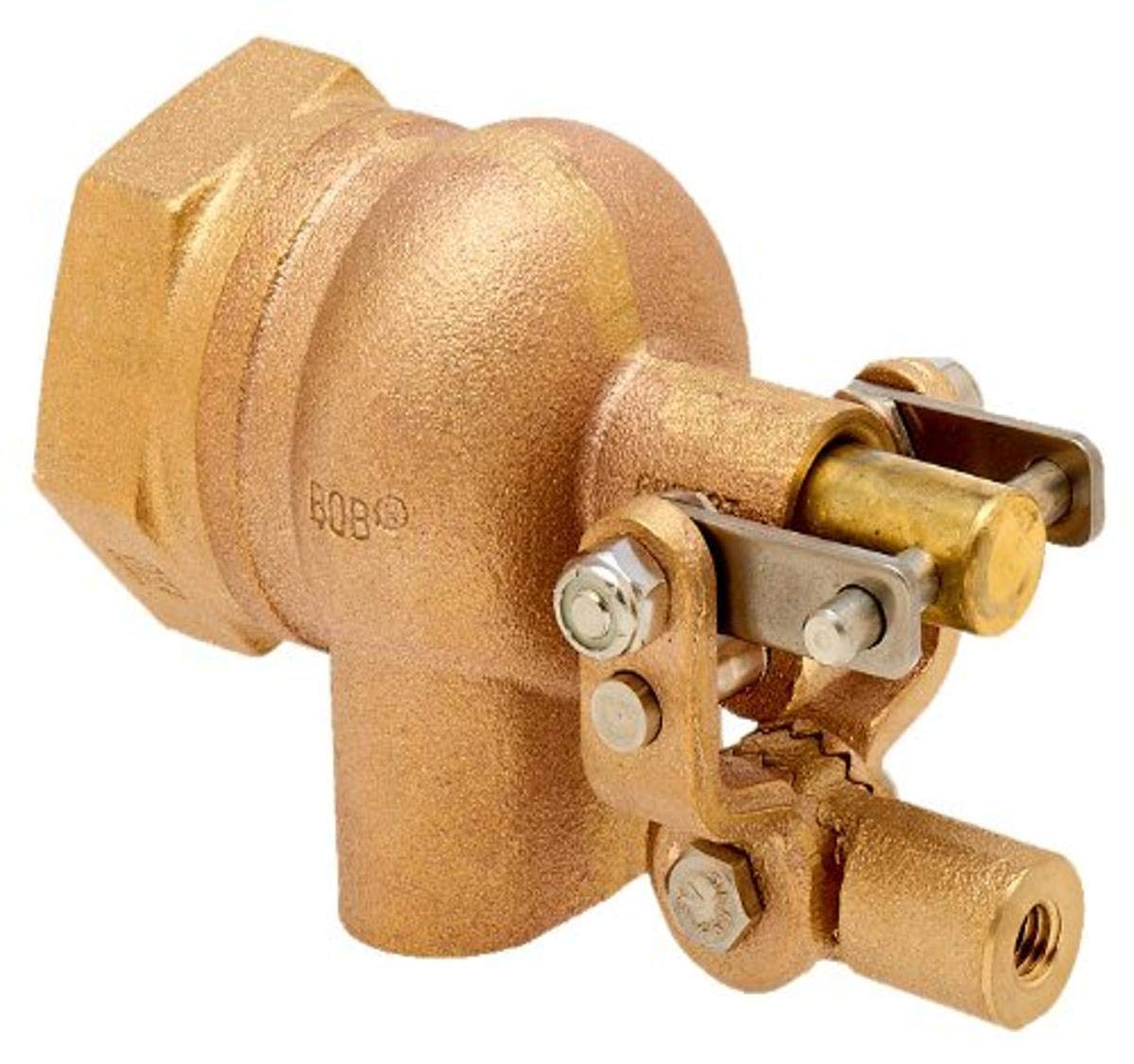 125 psi Pressure Robert Manufacturing R400-5 Series Bob Red Brass Float Valve Assembly with Viton Seal 1//2 NPT Male Inlet x 1//2 NPT Male Outlet