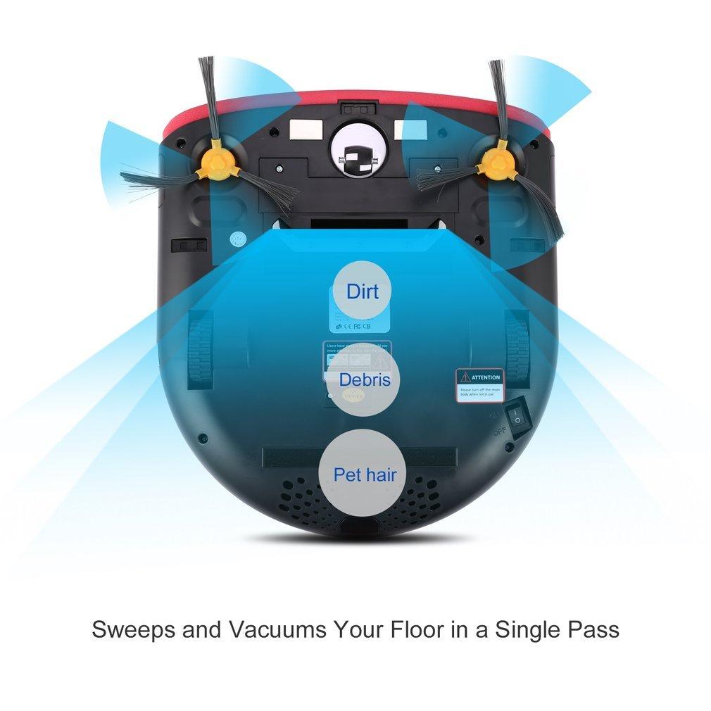Robot Aspirador, Robot Recarga automática ultrafino con 2 cepillos laterales 4 modos de limpieza Mando a distancia: Amazon.es: Hogar