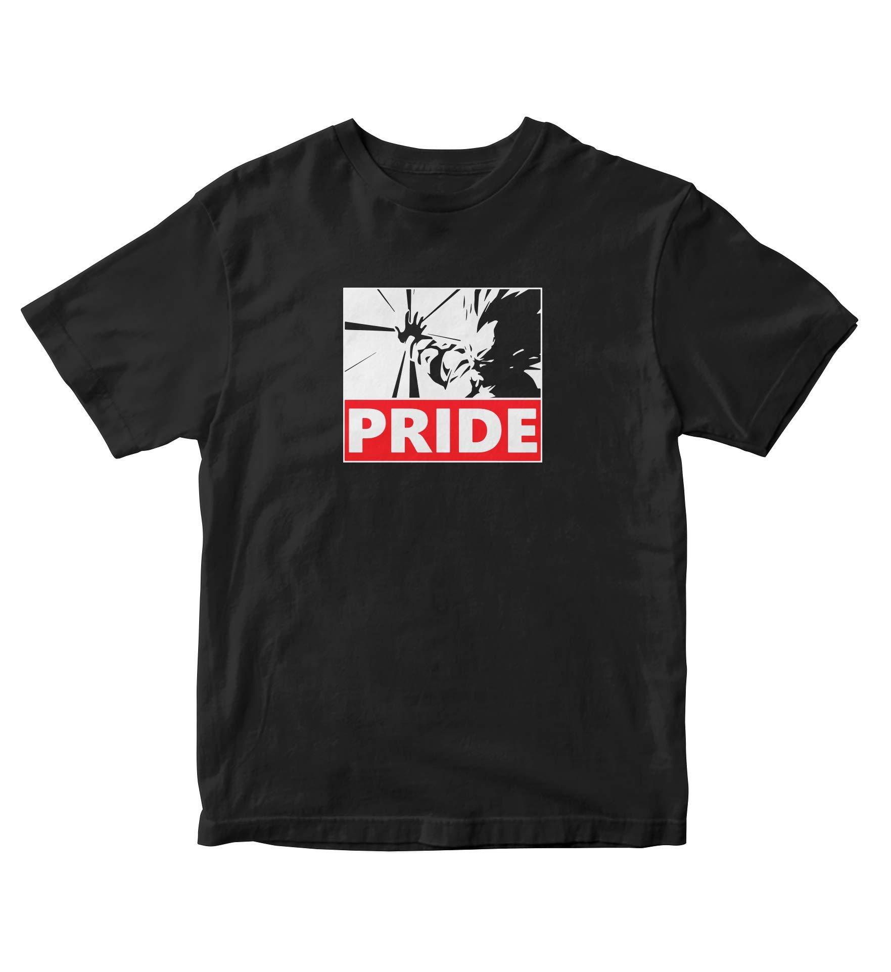 Tjsports Prince Vegeta Shirt Pride Dbz Anime Manga Black Shirt S A713