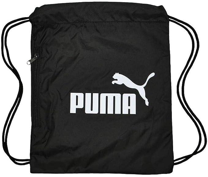 Puma Classic Cat Gym Sack Bolsa de gimnasia para gimnasia Bag Negro-Blanco   Amazon.es  Ropa y accesorios ab7ac6f624428