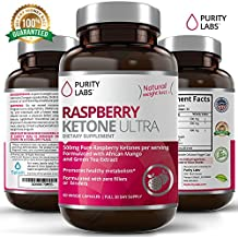 Raspberry Ketones 500mg per serving - 120 Veggie Capsules - Enhanced with African Mango and Green Tea - Natural Appetite Suppressant Weight Loss Diet Pill Supplement for Women and Men